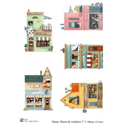 Декупажная карта Doors & windows 7-1 (зеркало) Base of art
