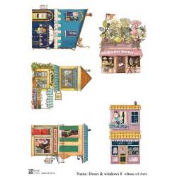 Декупажная карта Doors & windows 8 Base of art
