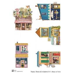 Декупажная карта Doors & windows 8-1 Base of art