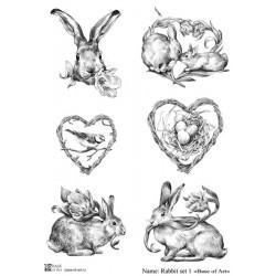 Декупажная карта Rabbit set 1 Base of art