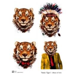 Декупажная карта Tiger 1 Base of art
