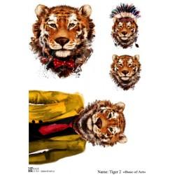 Декупажная карта Tiger 2 Base of art