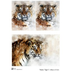Декупажная карта Tiger 3 Base of art