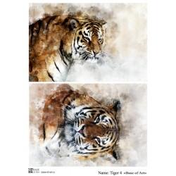 Декупажная карта Tiger 4 Base of art