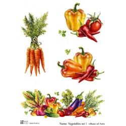 Декупажная карта Vegetables set 1 Base of art