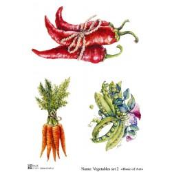 Декупажная карта Vegetables set 2 Base of art