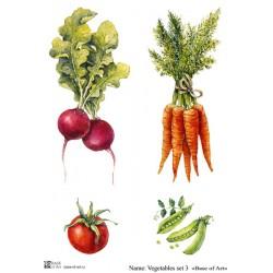 Декупажная карта Vegetables set 3 Base of art