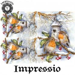 Декупажная карта Impressio Зимние птицы 17103