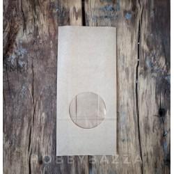 Крафт пакет серый, 10*6*20 см, упаковочный материал для готовых работ