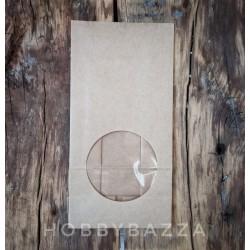 Крафт пакет серый, 12*8*25 см, упаковочный материал для готовых работ