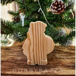 Деревянная заготовка Дед Мороз с мешком (сосна)