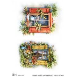 Декупажная карта Doors & windows 10