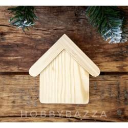 Деревянная заготовка Домик с крышей (массив сосны)