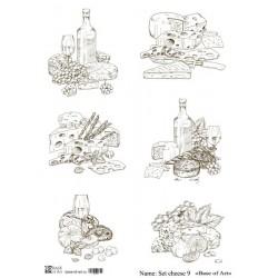 Декупажная карта Base of art Set cheese 9