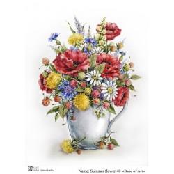 Декупажная карта Base of art Summer flower 40