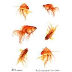 Декупажная карта Base of art Golden fish 1