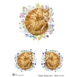 Декупажная карта Base of art Dream cat 2