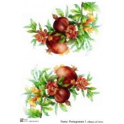 Декупажная карта Pomegranate 1 Base of art
