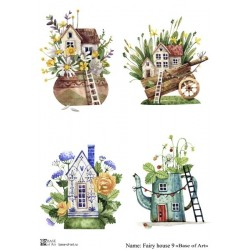 Декупажная карта Fairy house 9 Base of art