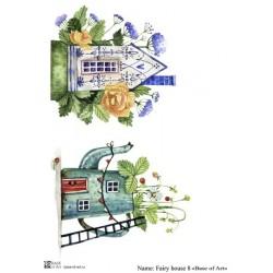 Декупажная карта Fairy house 8 Base of art