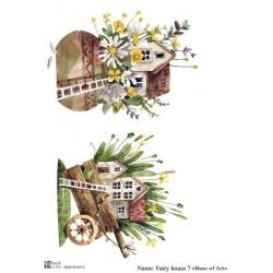 Декупажная карта Fairy house 7 Base of art