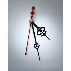 Стрелки для часов черно-красные 65-100-80
