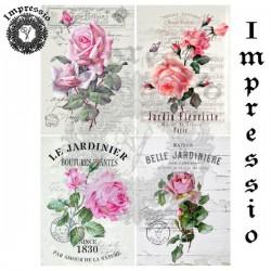 Декупажная карта 16856 Розы винтаж, купить