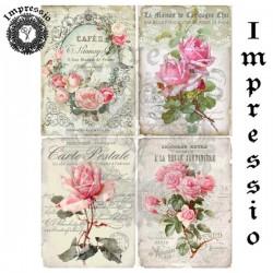 Декупажная карта 16855 Розы винтаж, купить