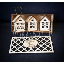 Набор Домиков с сердечками ( 3 штуки) в коробке