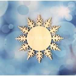 Подвеска Снежинка с медальоном