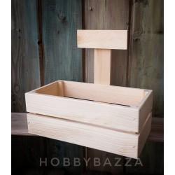 Купить Деревянный ящик с ручкой из сосны. Заготовка для декора, росписи, декупажа.