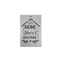 Трафарет пластиковый Home sweet home, купить