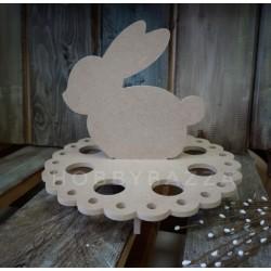 Заготовка под подставку пасхальная для яиц с кроликом МДФ