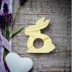 Купить деревянную подставку под пасхальное яйцо Кролик.