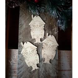 Деревянная подвеска новогодняя Щелкунчик (новый), купить