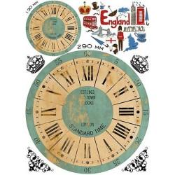 Декупажная карта Часы Англия А3, купить
