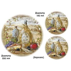 Декупажная карта А3 Сырная доска Оливки