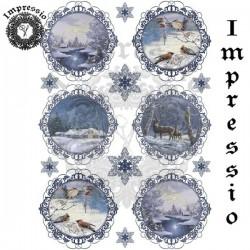 Декупажная карта 16768 Новогодняя-2 Impressio