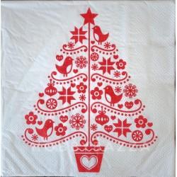 Салфетка для декупажа Новогодняя елка