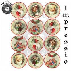 Декупажная карта Ретро-шары 16760 Impressio
