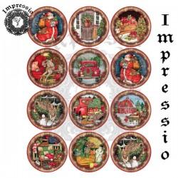 Декупажная карта Новый год-3 Impressio 16759