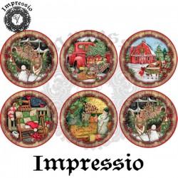 Декупажная карта Новый год -2 (шары) 16758 Impressio