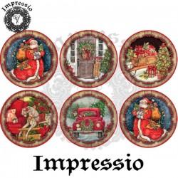 Декупажная карта Новый год (шар) 16757 Impressio