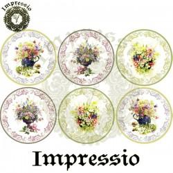 Декупажная карта 16672 Impressio Цветы (шар)
