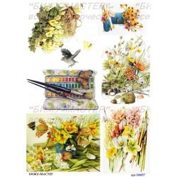 Рисовая карта Полевые цветы 160657