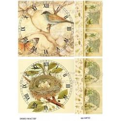 Рисовая карта Циферблаты в деревенском стиле 160723