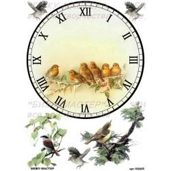 Рисовая карта Циферблат с птицами 160455
