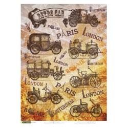 Рисовая бумага Ретро автомобили