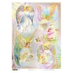 Рисовая бумага Ангелы
