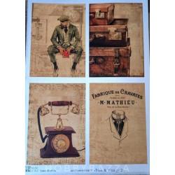 Декупажная карта Men & vintage 2 (Base of art)